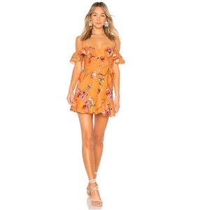 Bellview Mini Dress in Orange Cassie Floral